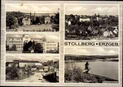 Postcard Stollberg im Erzgebirge, Stadtansichten, Polytechnische Oberschule