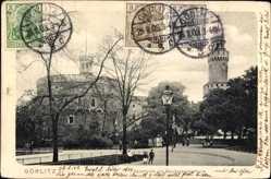 Postcard Görlitz in der Lausitz, Kaisertrutz mit Reichenbacherturm