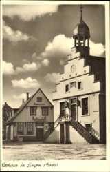 Postcard Lingen im Emsland in Niedersachsen, Blick auf das Rathaus, Ratskeller
