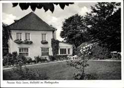 Postcard Wallefeld im Oberbergischen Engelskirchen, Pension Haus Sonne, Garten