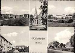 Postcard Kaltenkirchen im Kreis Segeberg, Kirche, Schwimmbad, Marktplatz, Schulen