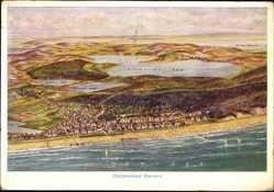 Landkarten Ak Ostseebad Bansin Heringsdorf auf Usedom, Schmollen See, Strand