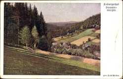 Künstler Ak Hürden, Erich, Ludwigsthal Neunkirchen, Sommermorgen, Felder