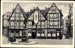 Postcard Münster in Westfalen, Stadtansicht, Dortmunder Union Bier, Fachwerkhäuser