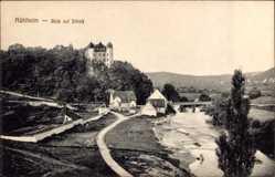 Postcard Mühlheim am Main im Kreis Offenbach, Blick auf das Schloss