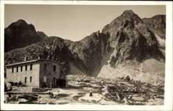 Postcard Vysoké Tatry Hohe Tatra Slowakei, Teryhu utulna, Schutzhaus bei den fünf Seen