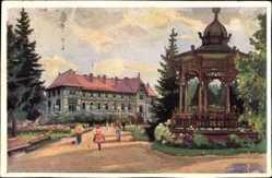 Künstler Ak Kosy, E., Bad Tatra Lomnitz Slowakei, Blick zum Hotel