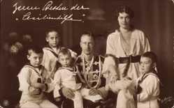 Ak Kronprinz Wilhelm von Preussen, Husarenuniform, Cecilie, Prinzen, NPG