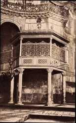 Postcard Konstantinopel Istanbul Türkei, Sainte Sophie, Kaiserliche Tribüne