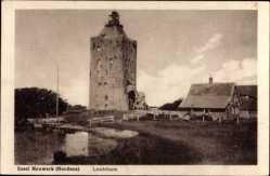Postcard Hamburg Mitte Insel Neuwerk, Ansicht vom Leuchtturm