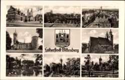 Postcard Lutherstadt Wittenberg in Sachsen Anhalt, Markt, Stadtkirche, Schloss