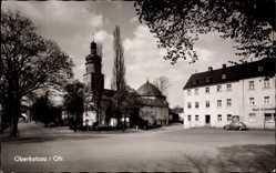 Postcard Oberkotzau in Oberfranken Bayern, Blick zur Kirche, Karl Schmidt
