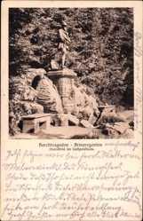 Postcard Berchtesgaden in Oberbayern, Prinzregenten, Standbild im Luitpoldhain