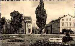 Postcard Seehausen in der Altmark in Sachsen Anhalt, Bahnhofsvorplatz