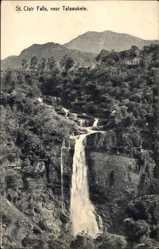 Postcard Talawakele Sri Lanka, general view of the St. Clair Falls