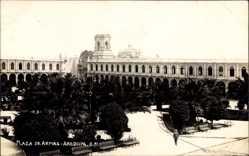 Foto Ak Arequipa Peru, Plaza de Armas, Partie am Palast