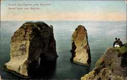 Postcard Beirut Beyrouth Libanon, Grotte des Pigeons, Doves cave