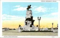 Postcard Havanna Kuba, Monumento a Maceo, Denkmal, Statue