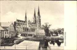 Postcard Uppsala Schweden, Domkyrka, Blick auf die Domkirche