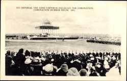 Postcard Delhi Indien, Imperial the King Emporer Paualian for Coronation, Durbar, 1911