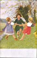 Künstler Ak Schenkel, Franziska, Frühlingstanz Nr 149