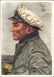 Künstler Ak Willrich, Wolfgang, Kapitänleutnant Günther Prien
