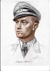 Künstler Ak Willrich, W., Major Oesau, Jagdgeschwader