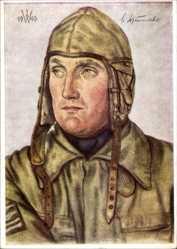 Künstler Ak Willrich, Wolfgang, Ritterkreuzträger Oberstleutnant Schumacher