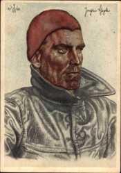 Künstler Ak Willrich, Wolfgang, Kapitänleutnant Schepke, U Boot Kommandant