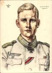 Künstler Ak Willrich, Wolfgang,Ritterkreuzträger Obergefreiter Hubert Brinkforth