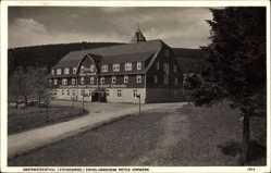 Postcard Oberwiesenthal Erzgebirge, Erholungsheim Rotes Vorwerk, Frontansicht
