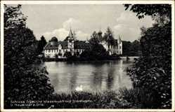 Postcard Neustadt an der Orla, Schloss fröhliche Wiederkunft mit Sternwarte