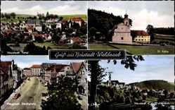 Postcard Neustadt an der Waldnaab im Oberpfälzer Wald, Totale, St. Felix, Stadtplatz