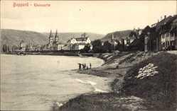 Ak Boppard im Rhein Hunsrück Kreis, Rheinpartie mit Blick auf den Ort