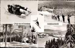 Ak Winterberg Hochsauerland, Bobfahrer, Skiläufer, Wintersport, Ort