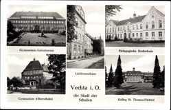 Postcard Vechta in Niedersachsen, Gymnasium Antonianum, Hochschule, Kolleg