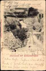 Postcard Tübingen am Neckar Baden Württemberg, Steinlach mit Hohentübingen