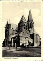 Postcard Rheindahlen Mönchengladbach in Nordrhein Westfalen, Pfarrkirche,Seitenansicht