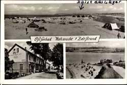 Postcard Hohwacht Ostholstein, Blick auf den Zeltstrand
