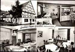 Postcard Bödefeld Schmallenberg im Hochsauerland, Gasthof Pieper, Fachwerkhaus