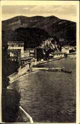 Postcard Zelenika Montenegro, Partie am Meer, Häuser, Berge