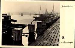 Postcard Scheveningen Den Haag Südholland, Partie am Binnenhafen