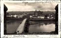 Postcard Cordoba Andalusien Spanien, Vista Parcial, Brücke, Blick auf den Ort, Fluss