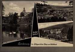 Postcard Bad Berleburg Nordrhein Westfalen, Schlossteich, Kurklinik Wittgenstein
