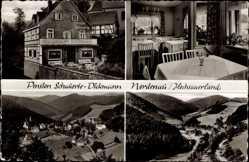 Postcard Nordenau Schmallenberg im Hochsauerland, Pension Schauerte Dickmann