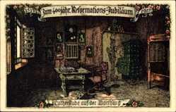 Steindruck Ak Kallista, Eisenach, Lutherstube, Wartburg, Reform. Jubiläum 1917