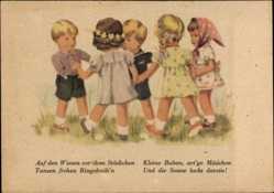 Künstler Ak Wagner A., Käthe Kruse Puppen tanzen