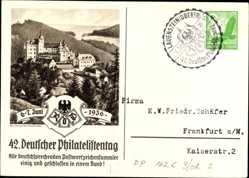 Ganzsachen Ak 42. Deutscher Philatelistentag, 6 bis 7 Juni 1936, KdF Sammler