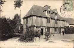 Ak Petit Couronne Seine Maritime, Maison de Pierre Corneille, Fachwerkhaus