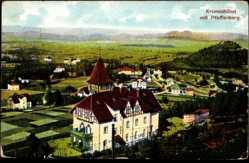 Ak Karpacz Krummhübel Riesengebirge Schlesien, Ort mit Pfaffenberg